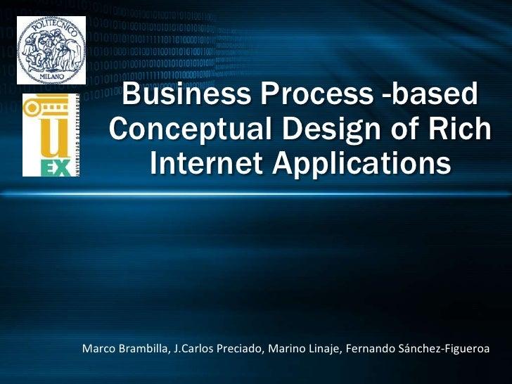 Business Process -based Conceptual Design of Rich Internet Applications<br />Marco Brambilla, J.Carlos Preciado, Marino Li...