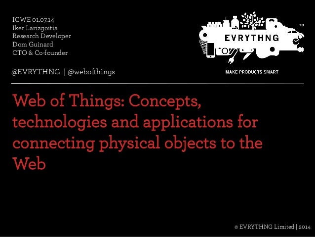 @EVRYTHNG | @webofthings© Evrythng Limited | 2014 ICWE 01.07.14 Iker Larizgoitia Research Developer Dom Guinard CTO & Co-f...