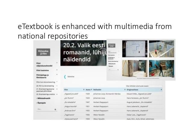 eTextbook isenhancedwithmultimediafrom nationalrepositories