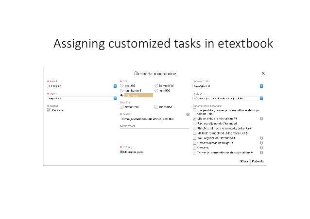 Assigningcustomized tasksinetextbook