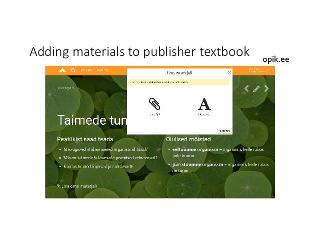 Addingmaterialstopublishertextbook opik.ee