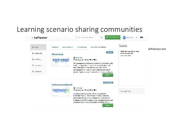 Learningscenariosharingcommunities lePlanner.net