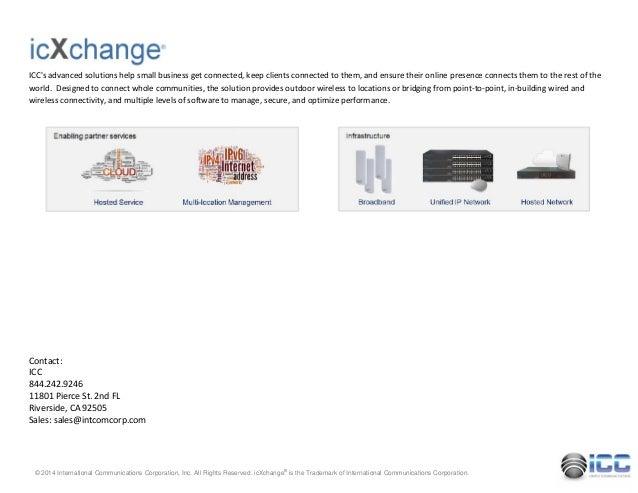 Icc icxchange community wireless mobility for 11801 pierce st 2nd floor riverside ca 92505