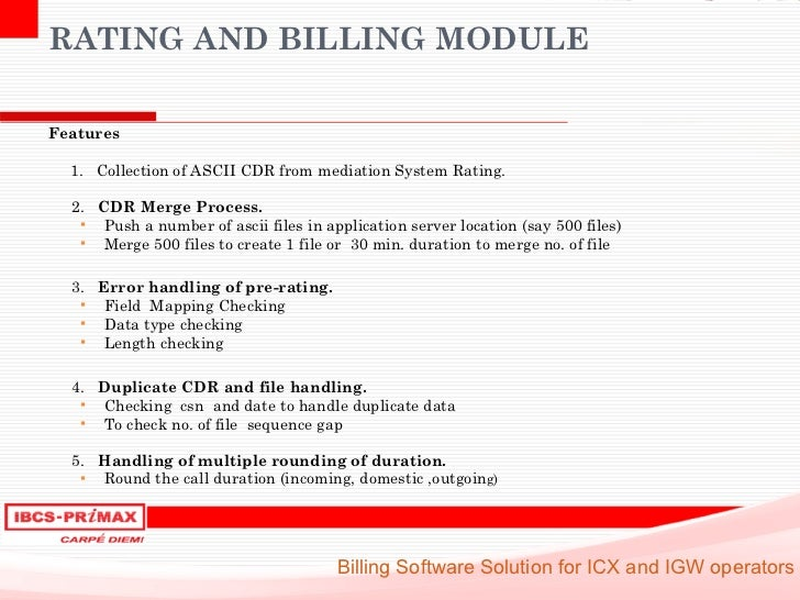 IBCS-PRIMAX: ICX and IGW Telecom billing software solution
