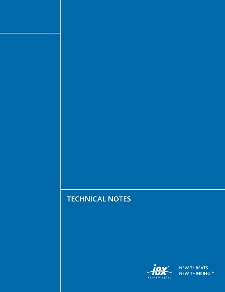 TECHNICAL NOTES                       NEW THREATS                   NEW THINKING. ®