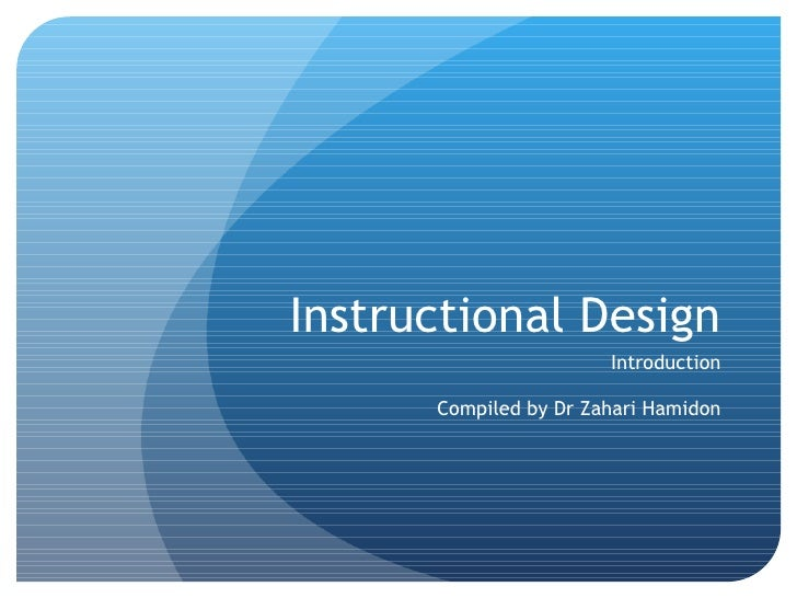 Introduction to Instructional Design