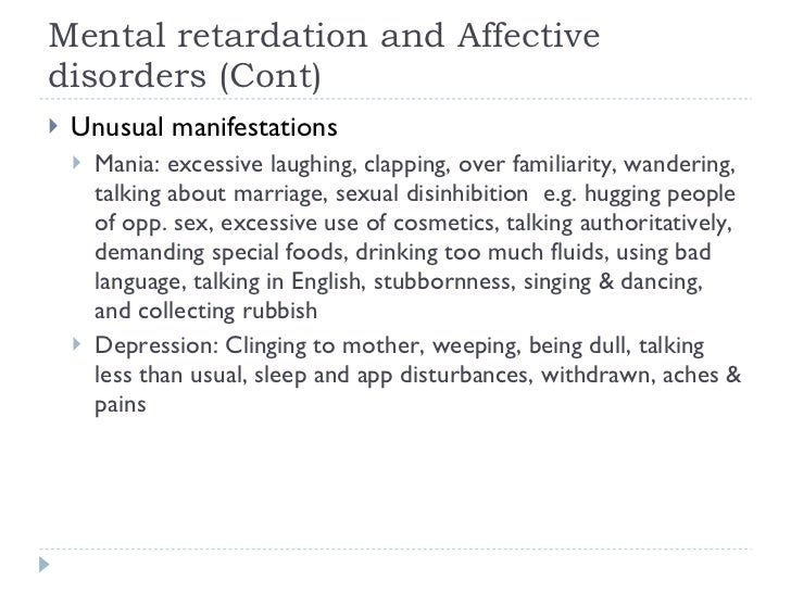 Behavior mental retardation sexual