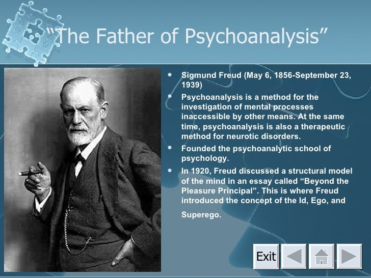 High school paper written about sigmund freud