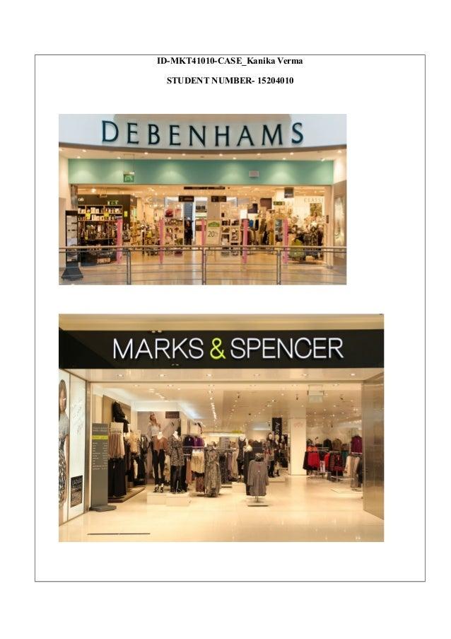 7d570ce174 Debenhams versus Marks   Spencers