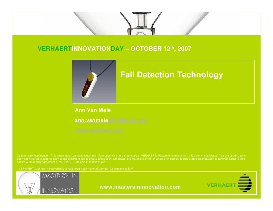 © MASTERS IN INNOVATION ®                               Fall Detection Technology                                  VERHAER...