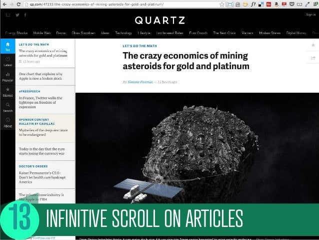 INFINITIVE SCROLL ON ARTICLES