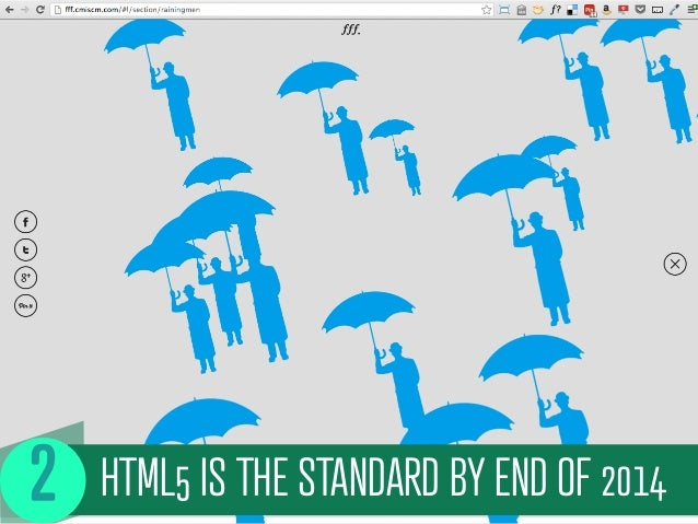 HTML5 IS THE STANDARD BY END OF 2014