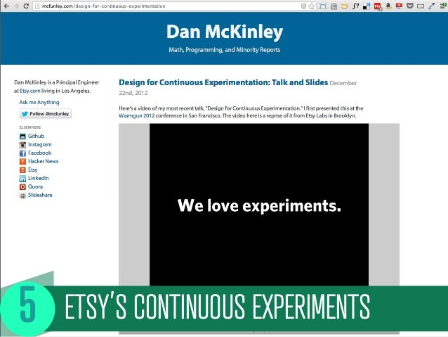 ETSY'S CONTINUOUS EXPERIMENTS