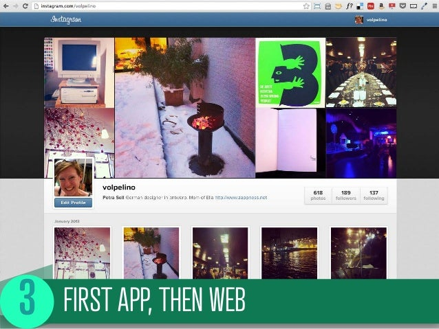 FIRST APP, THEN WEB