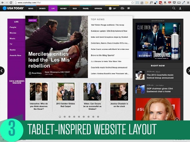 TABLET-INSPIRED WEBSITE LAYOUT