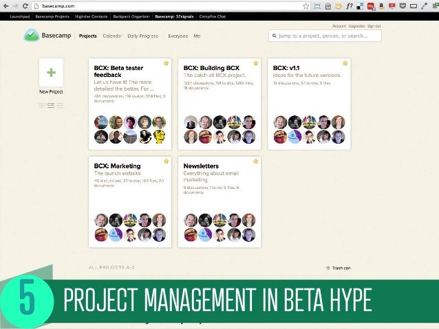 PROJECT MANAGEMENT IN BETA HYPE