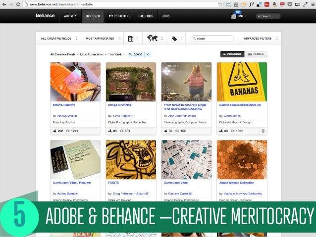 ADOBE & BEHANCE –CREATIVE MERITOCRACY