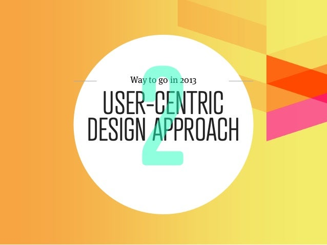 Way to go in 2013 USER-CENTRICDESIGN APPROACH