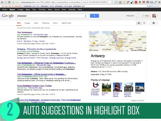 AUTO SUGGESTIONS IN HIGHLIGHT BOX