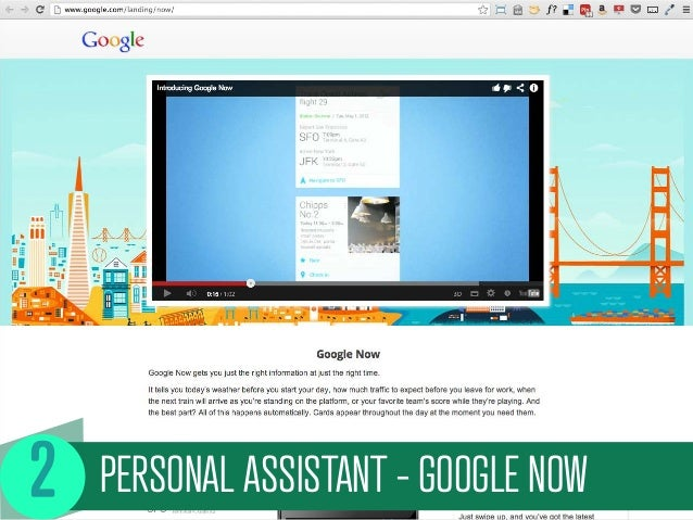 PERSONAL ASSISTANT - GOOGLE NOW