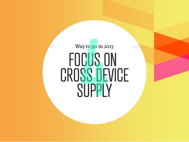 Way to go in 2013 FOCUS ONCROSS DEVICE   SUPPLY