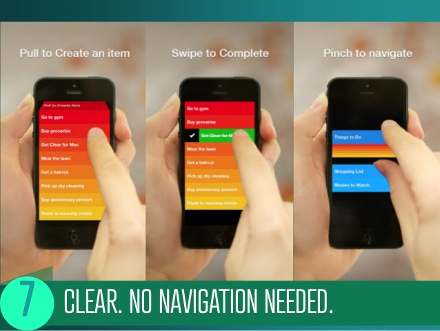CLEAR. NO NAVIGATION NEEDED.