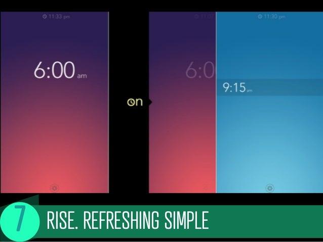 RISE. REFRESHING SIMPLE