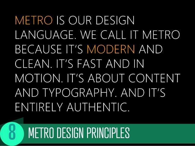 METRO DESIGN PRINCIPLES