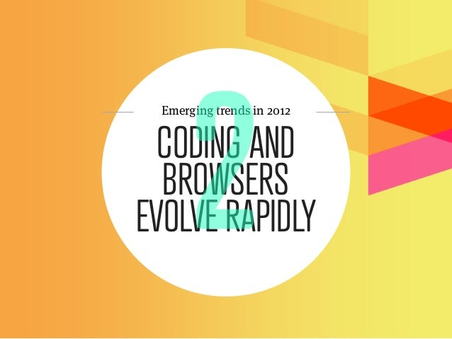Emerging trends in 2012  CODING AND  BROWSERSEVOLVE RAPIDLY