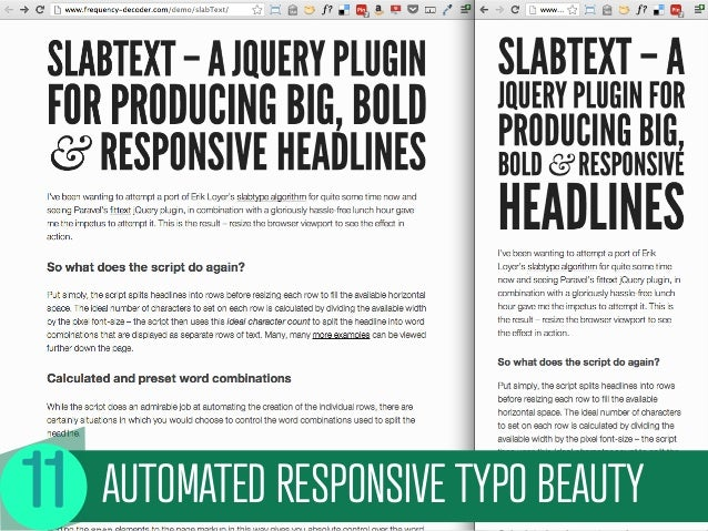 AUTOMATED RESPONSIVE TYPO BEAUTY