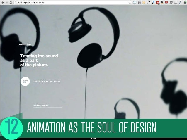 ANIMATION AS THE SOUL OF DESIGN