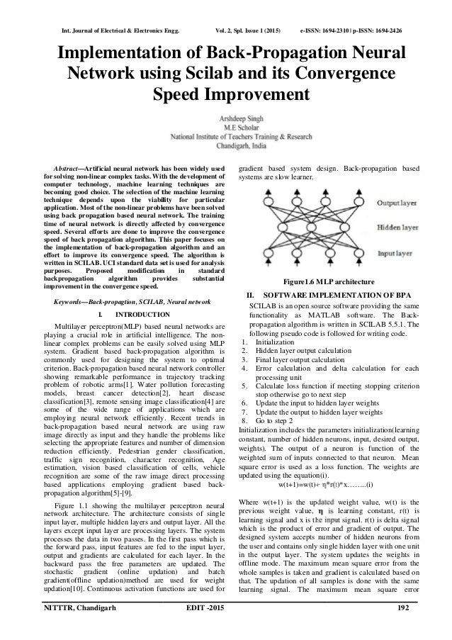 Implementation of Back-Propagation Neural Network using Scilab and it…