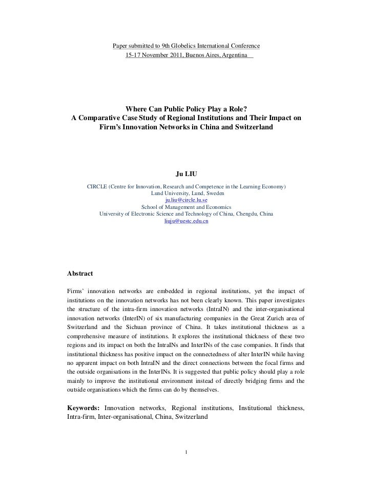 Paper submitted to 9th Globelics International Conference                      15-17 November 2011, Buenos Aires, Argentin...