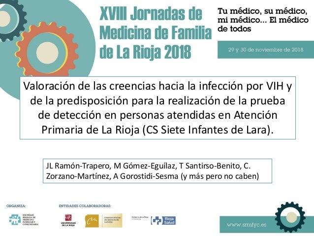 Valoración de las creencias hacia la infección por VIH y de la predisposición para la realización de la prueba de detecció...