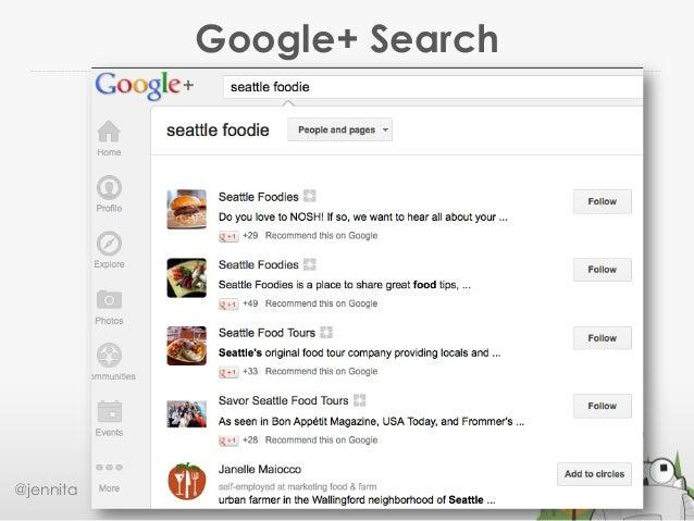Google+ Search@jennita #ID2013