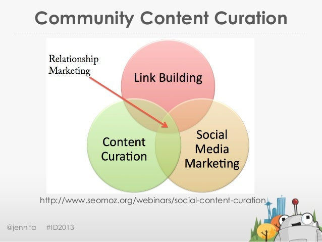 Community Content Curation@jennita #ID2013http://www.seomoz.org/webinars/social-content-curation