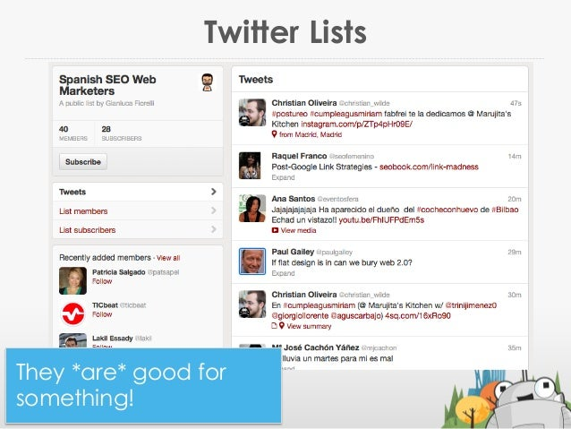 Twitter Lists@jennita #ID2013They *are* good forsomething!