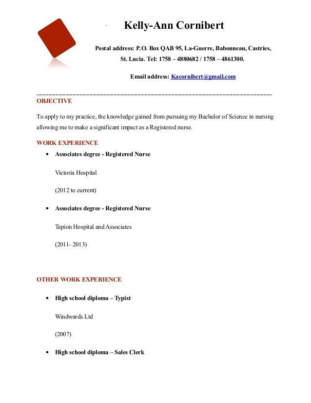 `          Kelly-Ann Cornibert                                  Postal address: P.O. Box QAB 95, La-Guerre, Babonneau, Cas...