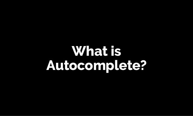 Building an accessible auto-complete - #ID24 Slide 2
