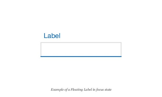 Creating Acessible floating labels