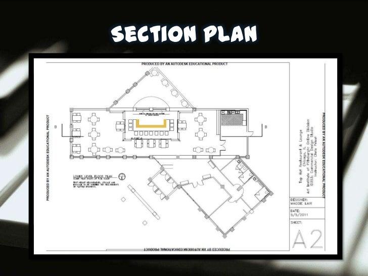 Plan And Elevation Of Restaurant : Restaurant design presentation