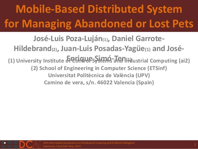 10th International Symposium on Distributed Computing and Artificial IntelligenceSalamanca, 22nd-24th May, 2013Mobile-Base...