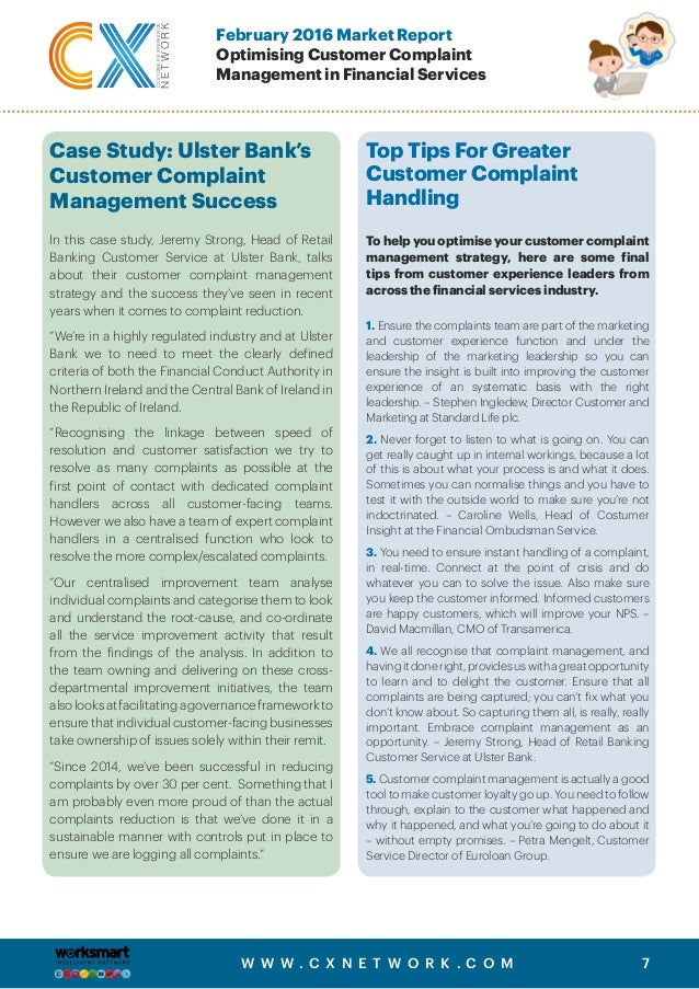 Optimizing Customer Complaint Management In Financial Services