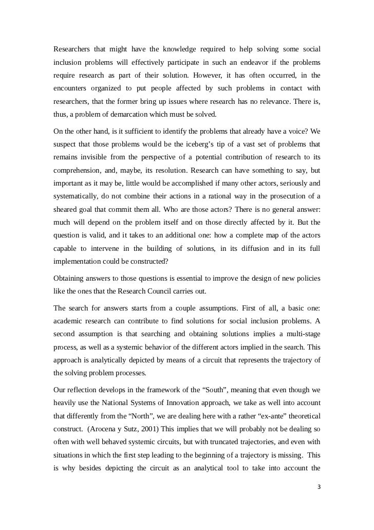 research paper + inclusion This paper will take an in depth look at inclusion in the classroom some of the areas that will be looked at will be an overview of inclusion, general problems faced.