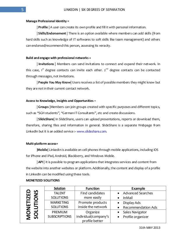 analysis of linkedin