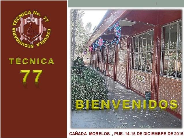 CAÑADA MORELOS , PUE. 14-15 DE DICIEMBRE DE 2015 1