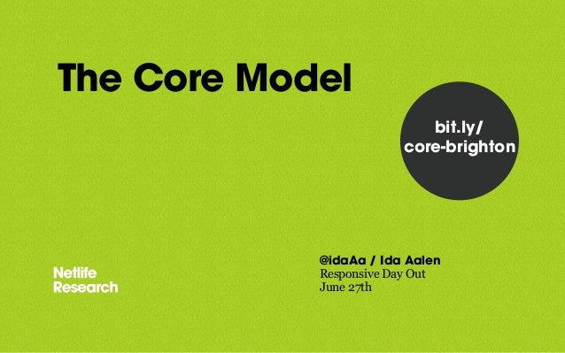 The Core Model @idaAa / Ida Aalen Responsive Day Out June 27th bit.ly/ core-brighton
