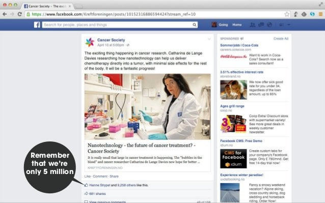 Web master Web editor Cancer research Analytics on the agenda every week
