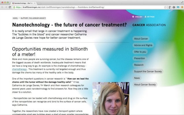 Web master Web editor Cancer research Discussions & decisions, not writing All content is revised at least every 3 months