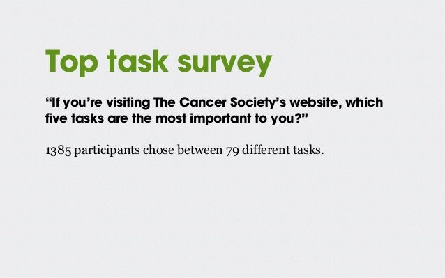 The challenge User looked for content that supported goals 1 & 2: • Helping patients, their friends and family • Increasin...
